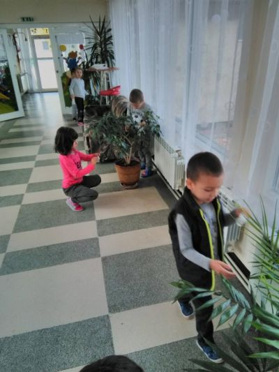 Децата и цветята - ДГ Радост - Ихтиман